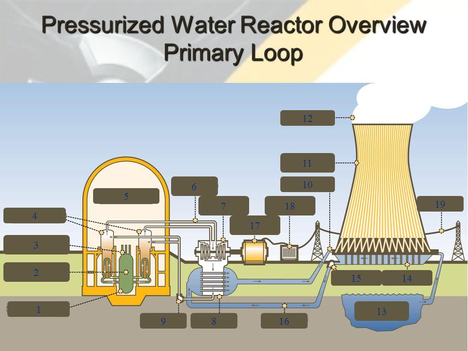 71 3 4 2 1 9 5 6 7 17 18 816 13 1514 10 11 12 19 Pressurized Water Reactor Overview Primary Loop