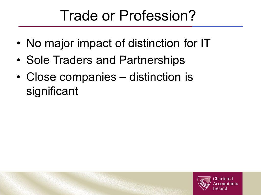 Trade or Profession.