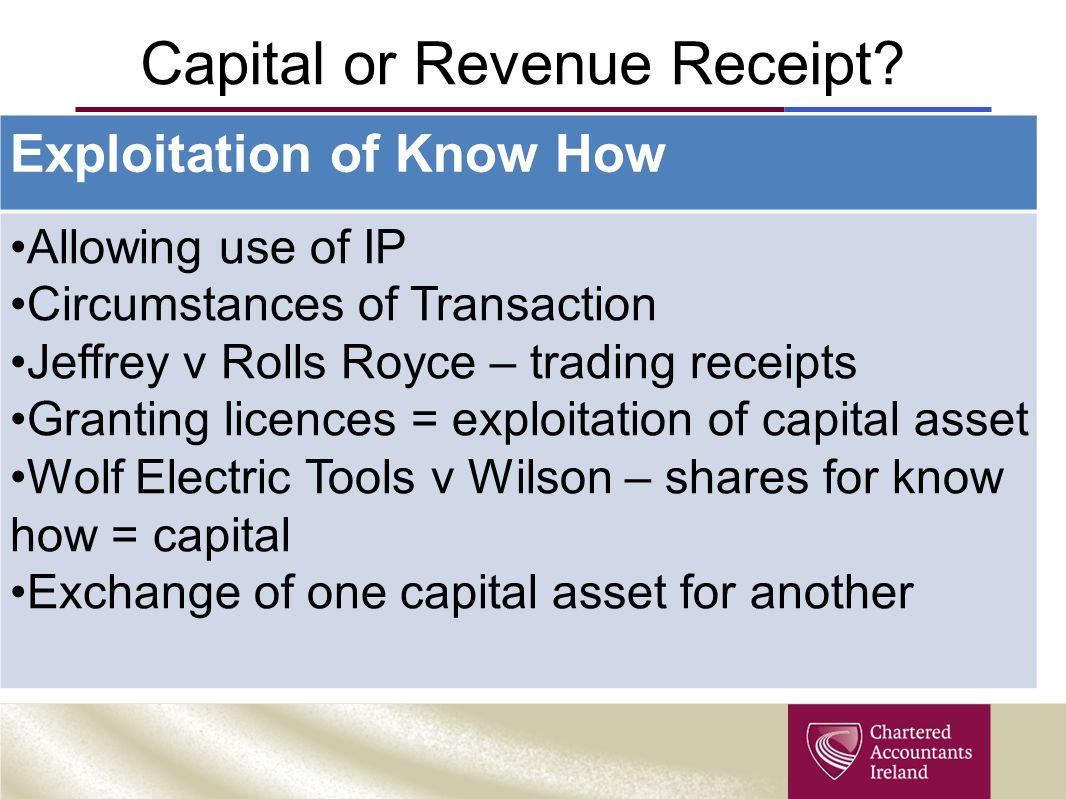 Capital or Revenue Receipt.