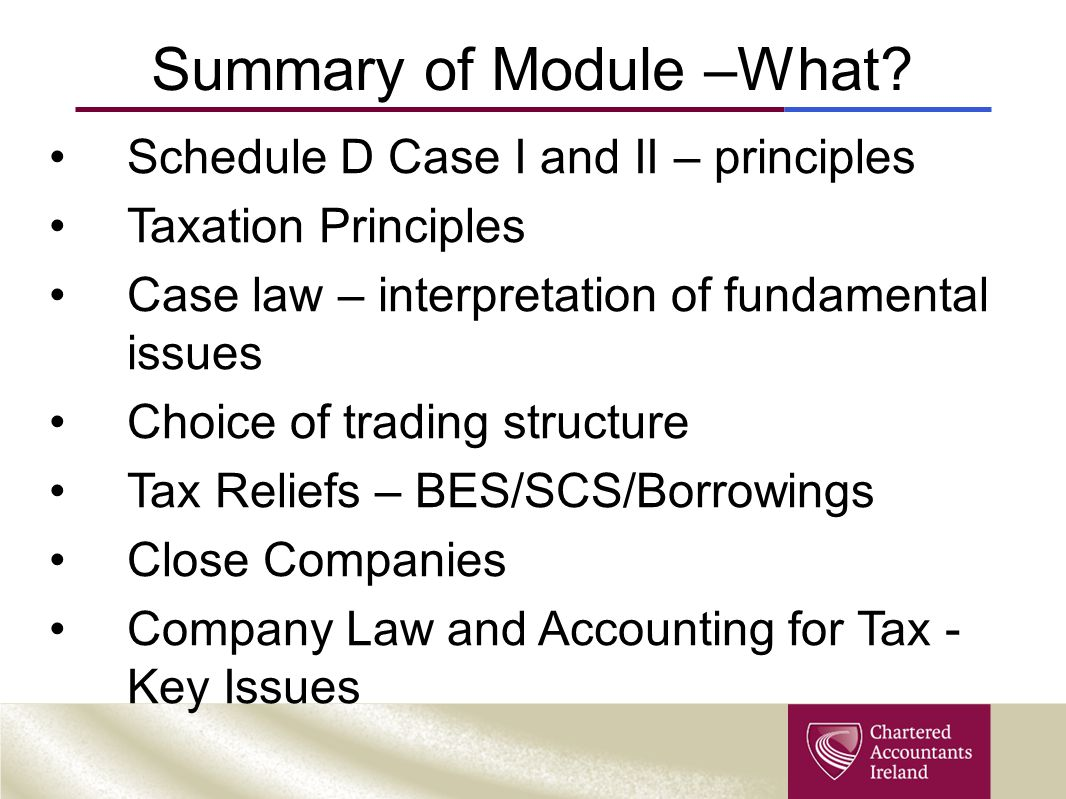 Summary of Module –What.