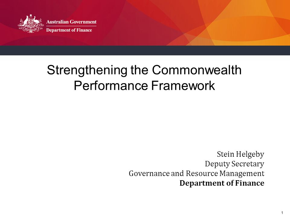 2 Enhanced Performance Framework Overview 1) Public Governance, Performance and Accountability Act 1.Update 2.Next Steps 2) Performance Framework From the perspectives of: 1.