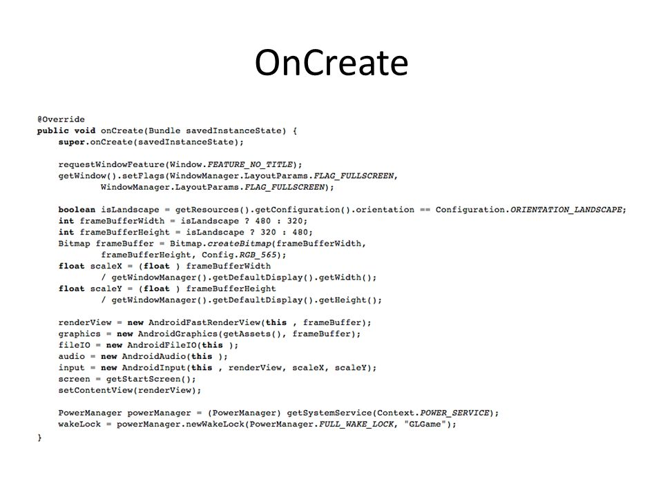 OnCreate