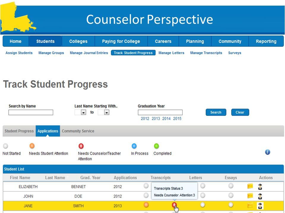 Counselor Perspective  So many students, so little time.