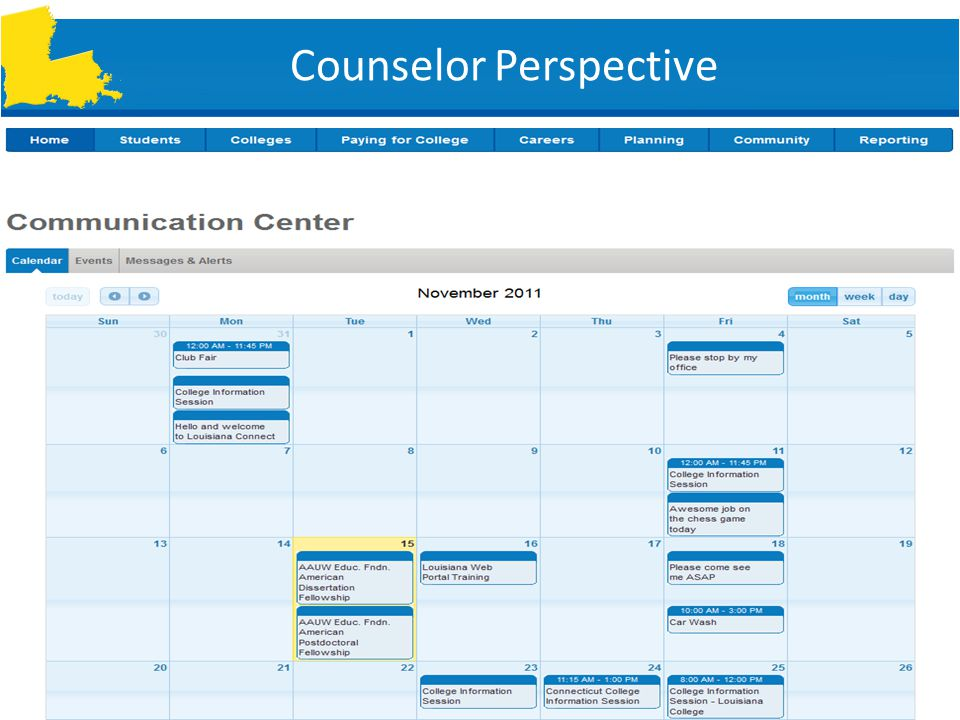 SLIDE 21 Counselor Perspective