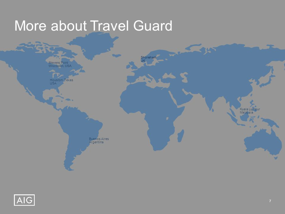 7 More about Travel Guard Houston, Texas USA Buenos Aires Argentina Shoreham UK Kuala Lumpur Malaysia