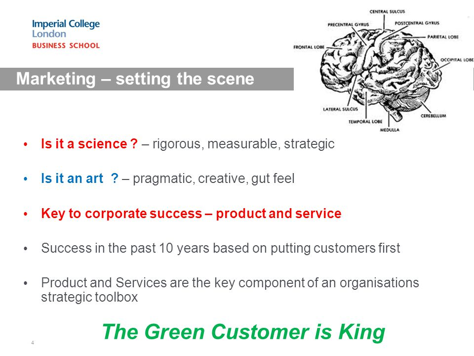 Marketing – setting the scene Is it a science . – rigorous, measurable, strategic Is it an art .