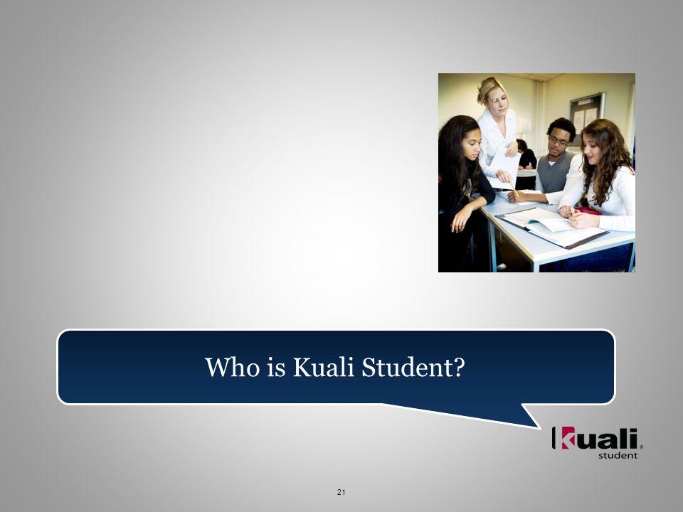 21 Who is Kuali Student
