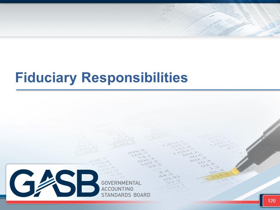 Fiduciary Responsibilities 120