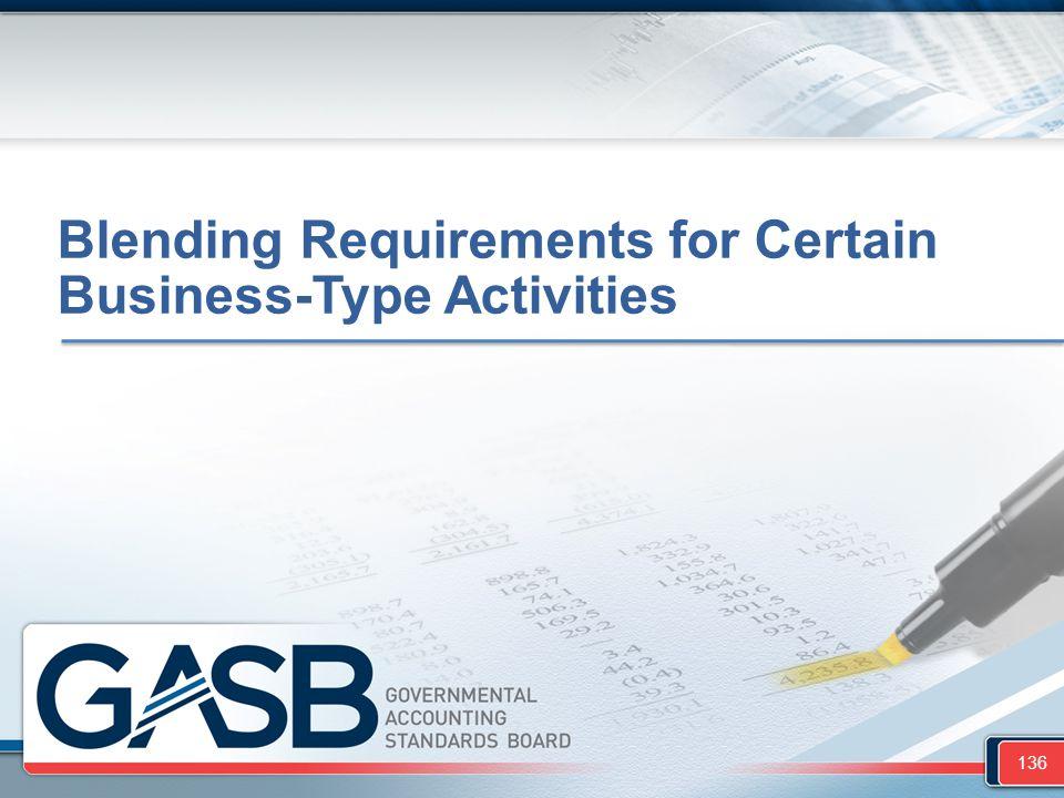 Blending Requirements for Certain Business-Type Activities 136