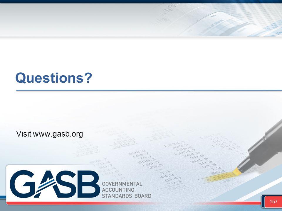 Questions? Visit www.gasb.org 157