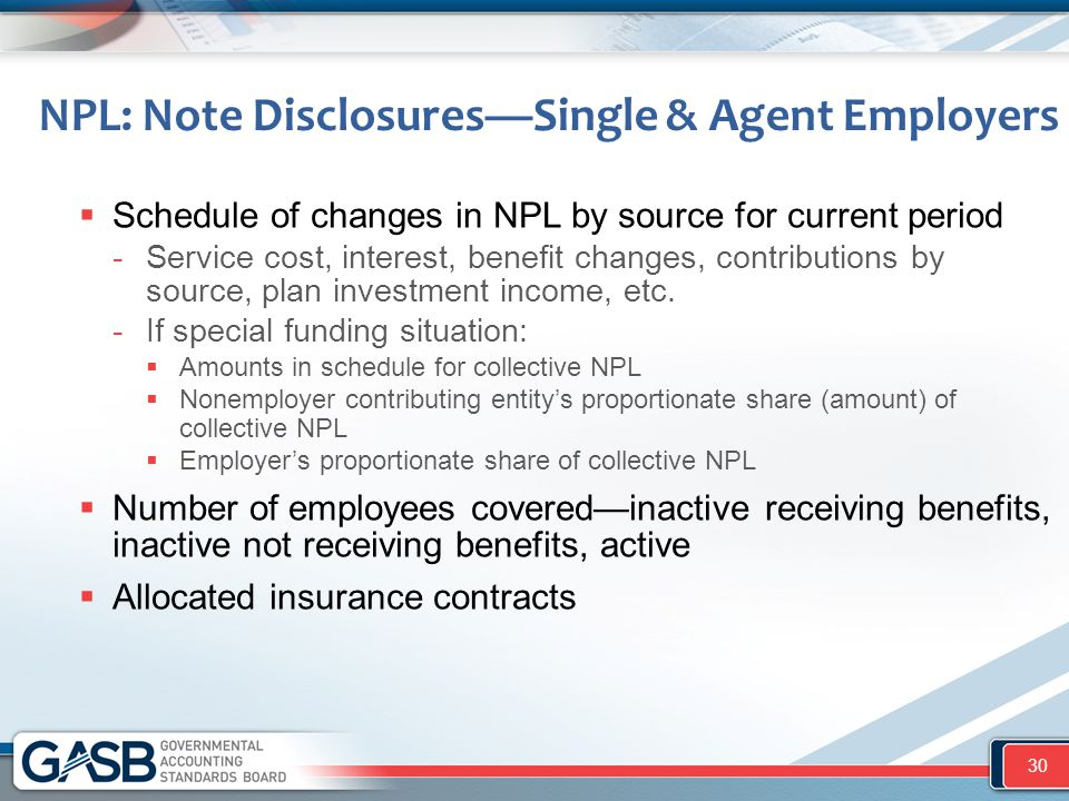 NPL: Note Disclosures—Single & Agent Employers  Schedule of changes in NPL by source for current period -Service cost, interest, benefit changes, con