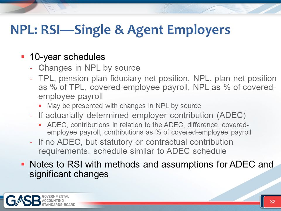 NPL: RSI—Single & Agent Employers  10-year schedules -Changes in NPL by source -TPL, pension plan fiduciary net position, NPL, plan net position as %