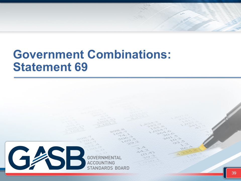 Government Combinations: Statement 69 39