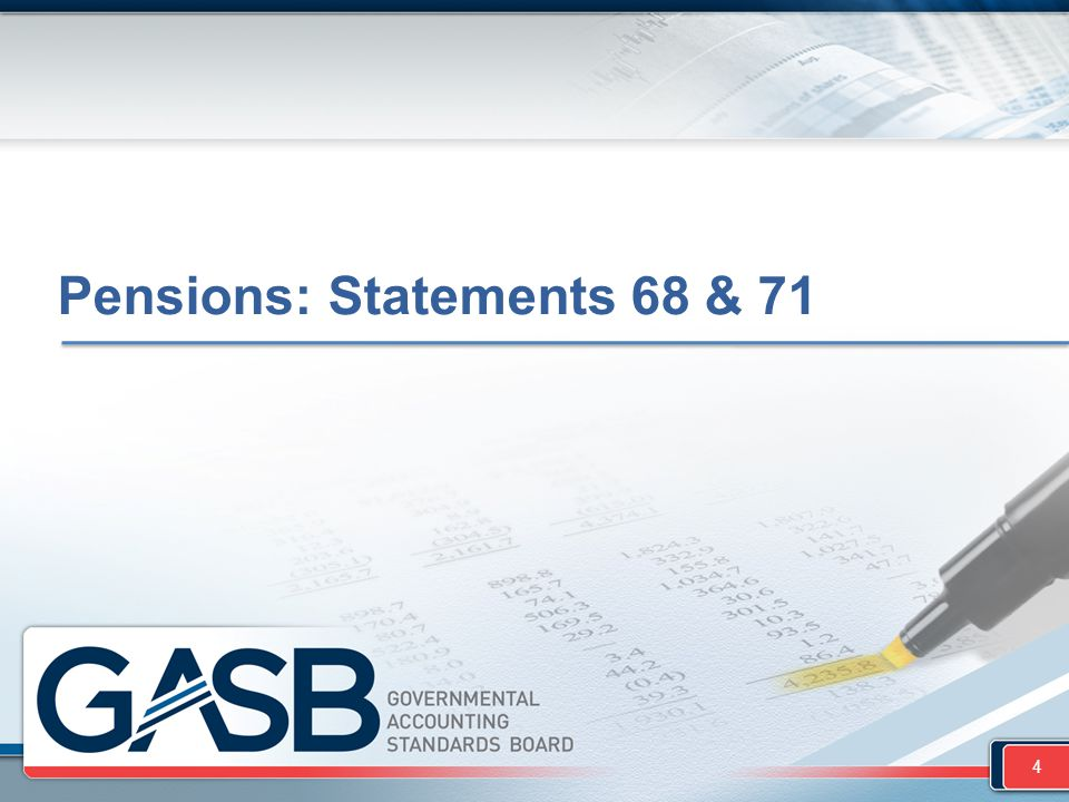 Overview  What: Existing standards for pension accounting and financial reporting by employers (Statement 27) have been updated and improved  Why: Review of the effectiveness of Statement 27 found opportunities to significantly improve the usefulness of pension information reported by employers  When: Periods beginning after June 15, 2014 (FYE 6-30-15 and later) 5