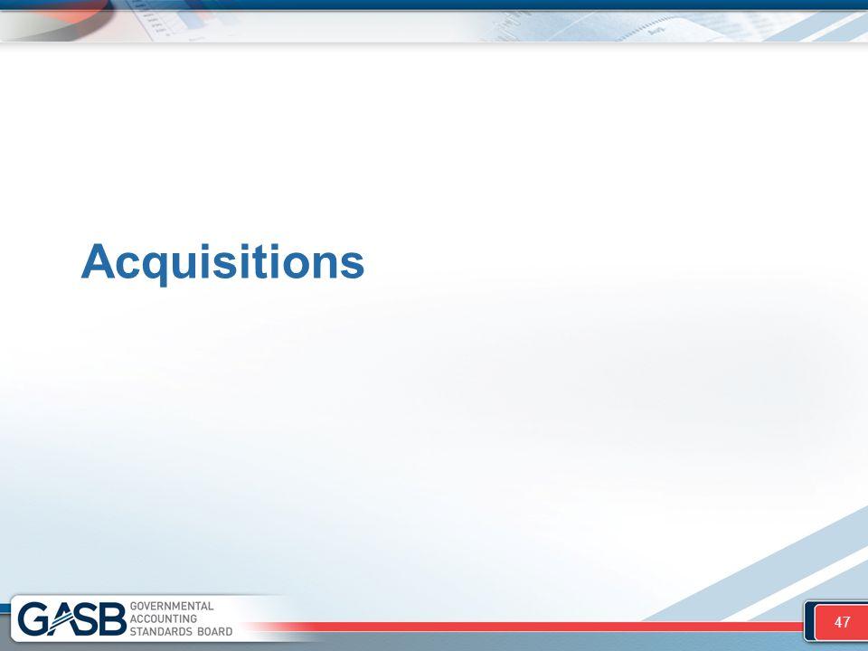 Acquisitions 47