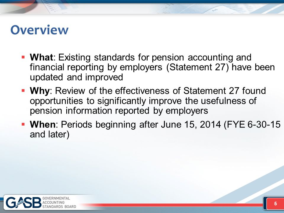 Cost-Sharing Employers  Relevant only for OPEB administered through trust in which specified criteria are met  Recognize proportionate shares of collective net OPEB liability, OPEB expense, and deferred outflows of resources/deferred inflows of resources related to OPEB  Proportion (%) -Basis required to be consistent with contributions -Use of relative long-term projected contribution effort encouraged -Consider separate rates related to separate portions of collective net OPEB liability  Collective measure × proportion = proportionate share of collective measure 86