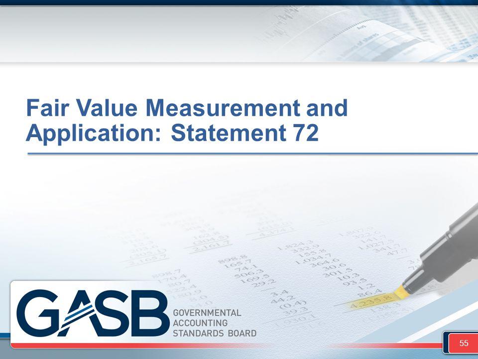 Fair Value Measurement and Application: Statement 72 55