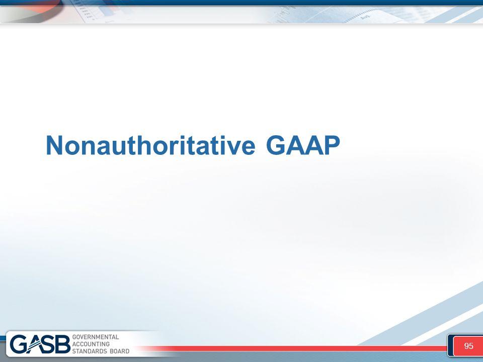 Nonauthoritative GAAP 95