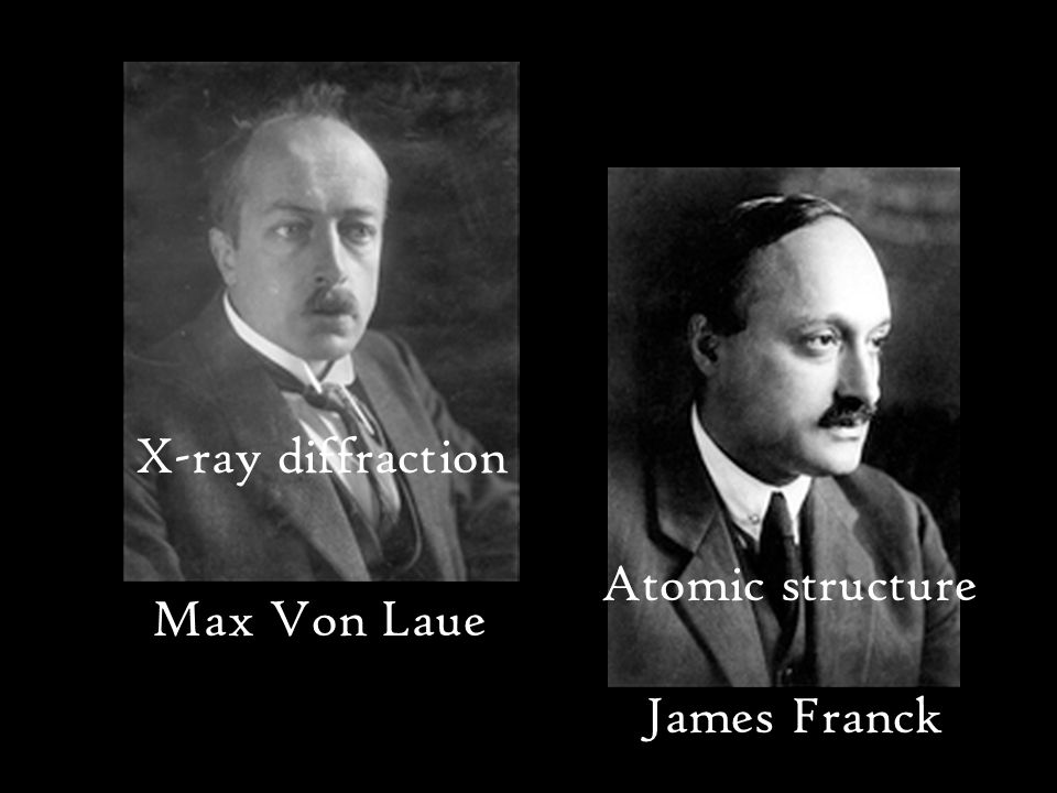 Max Von Laue James Franck X-ray diffraction Atomic structure