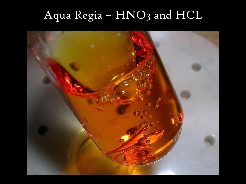 Aqua Regia – HNO3 and HCL