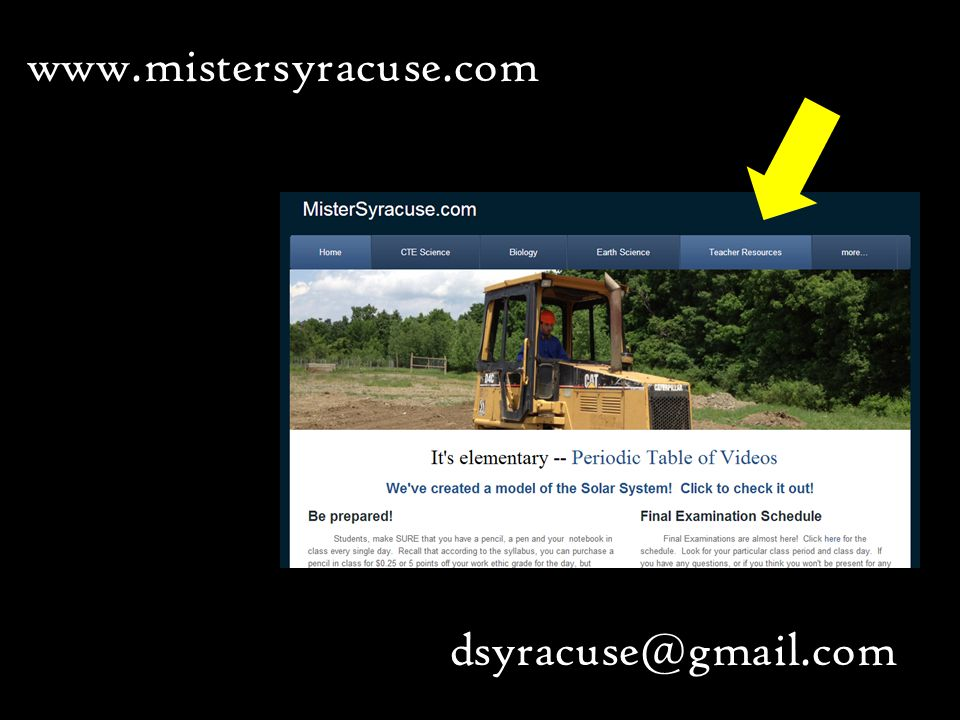 www.mistersyracuse.com dsyracuse@gmail.com