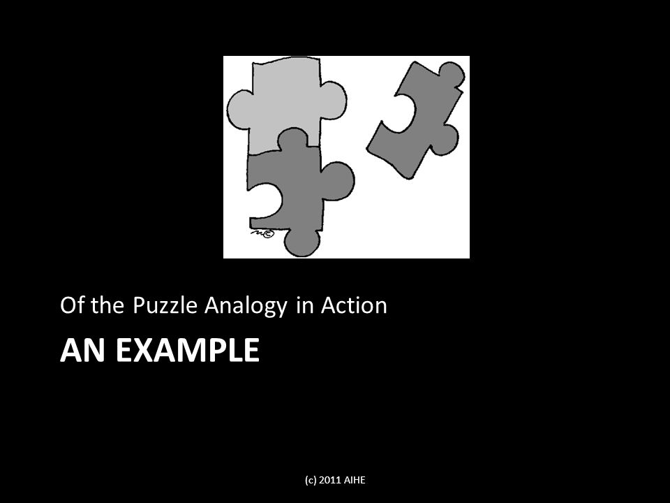 AN EXAMPLE Of the Puzzle Analogy in Action (c) 2011 AIHE