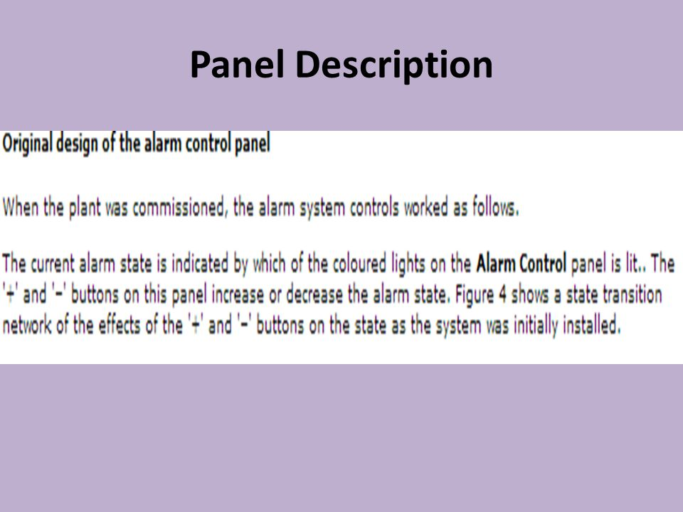Panel Description