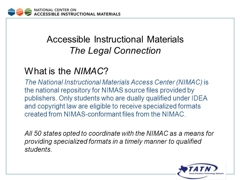 What is the NIMAC.