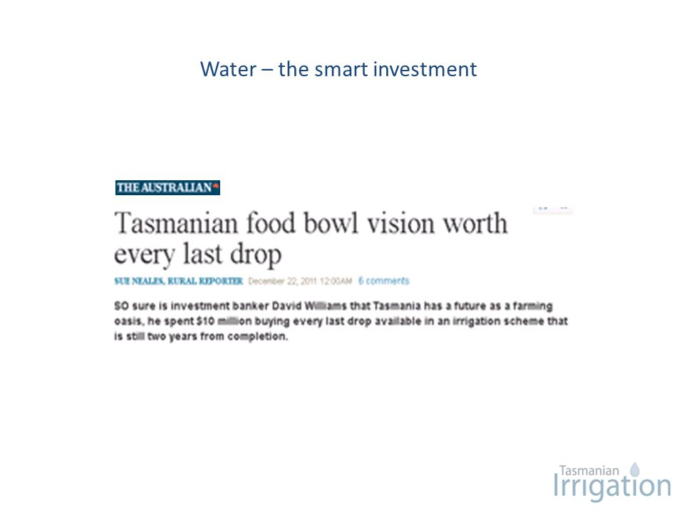 Water – the smart investment