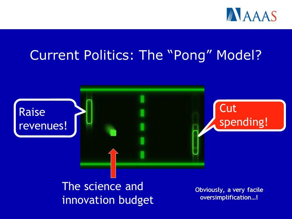 Current Politics: The Pong Model. Cut spending.