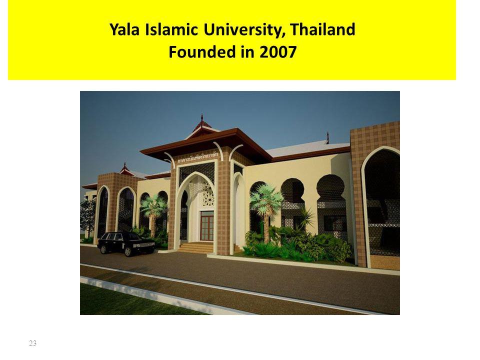 Yala Islamic University, Thailand Founded in 2007 23