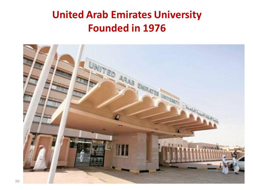 United Arab Emirates University Founded in 1976 96