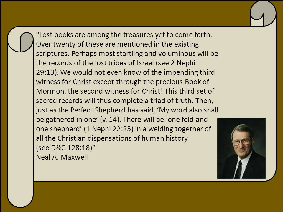 2 Nephi 29:11-14 Did other people keep sacred records.