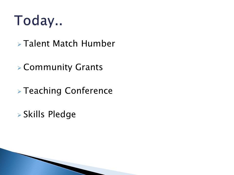  Talent Match Humber  Community Grants  Teaching Conference  Skills Pledge