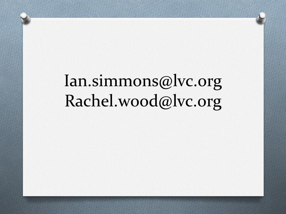 Ian.simmons@lvc.org Rachel.wood@lvc.org
