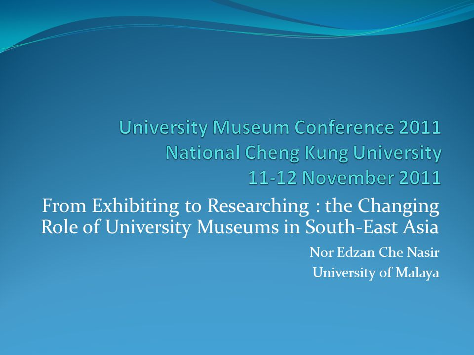 Universities establish museums to aid teaching and research within the university.