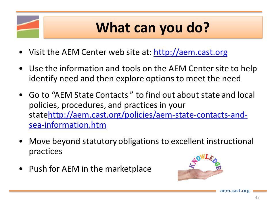 aem.cast.org What can you do.