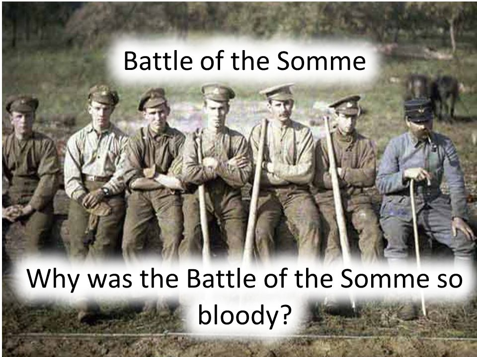 You are going to plan the Battle of the Somme In groups you all need the 'Battle planners Kit' – Lay this on your tables.