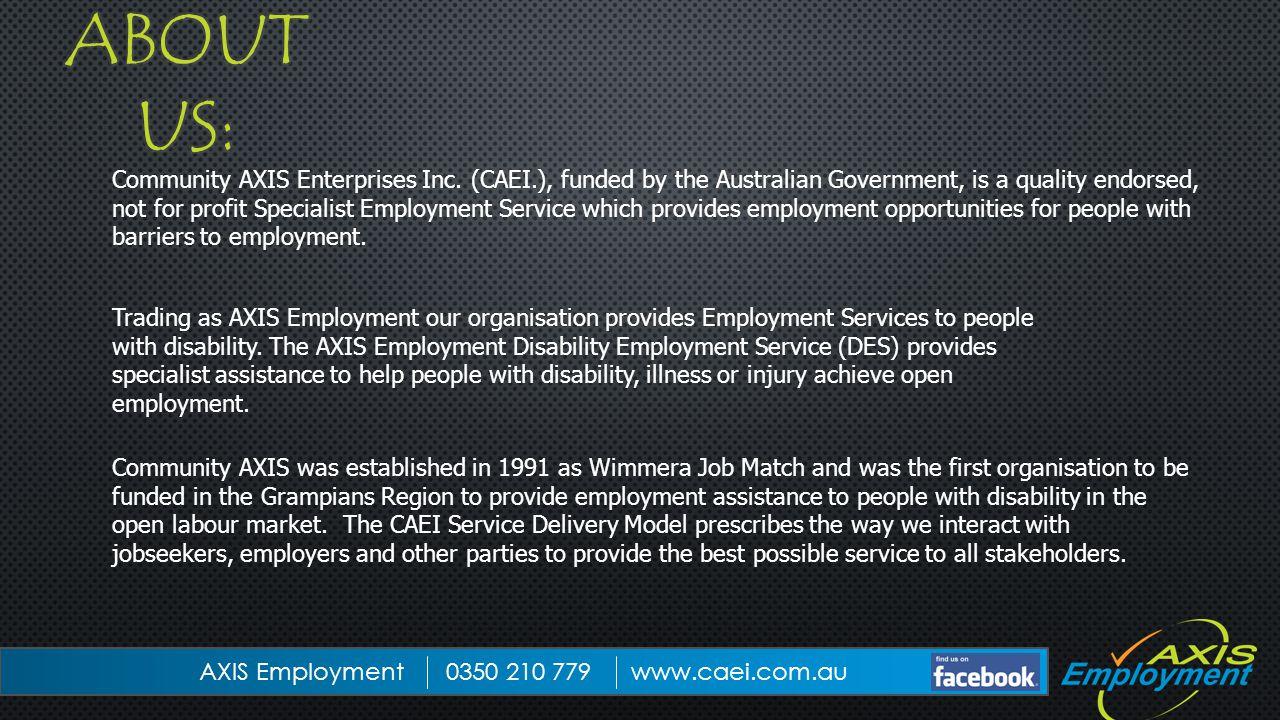 Community AXIS Enterprises Inc.