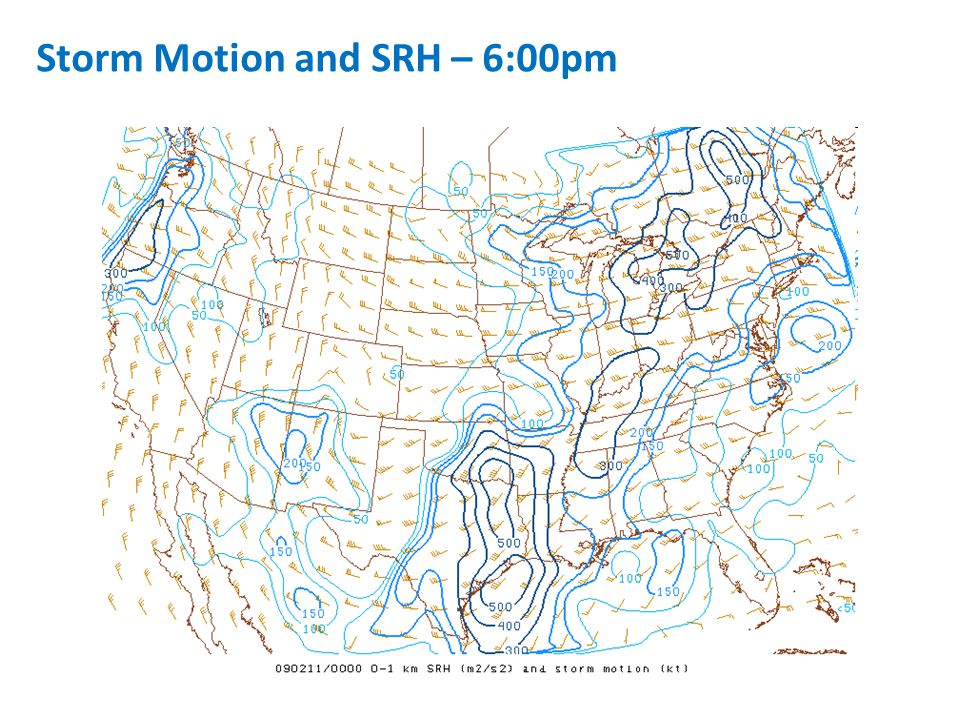 Storm Motion and SRH – 6:00pm
