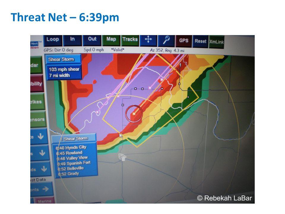 Threat Net – 6:39pm