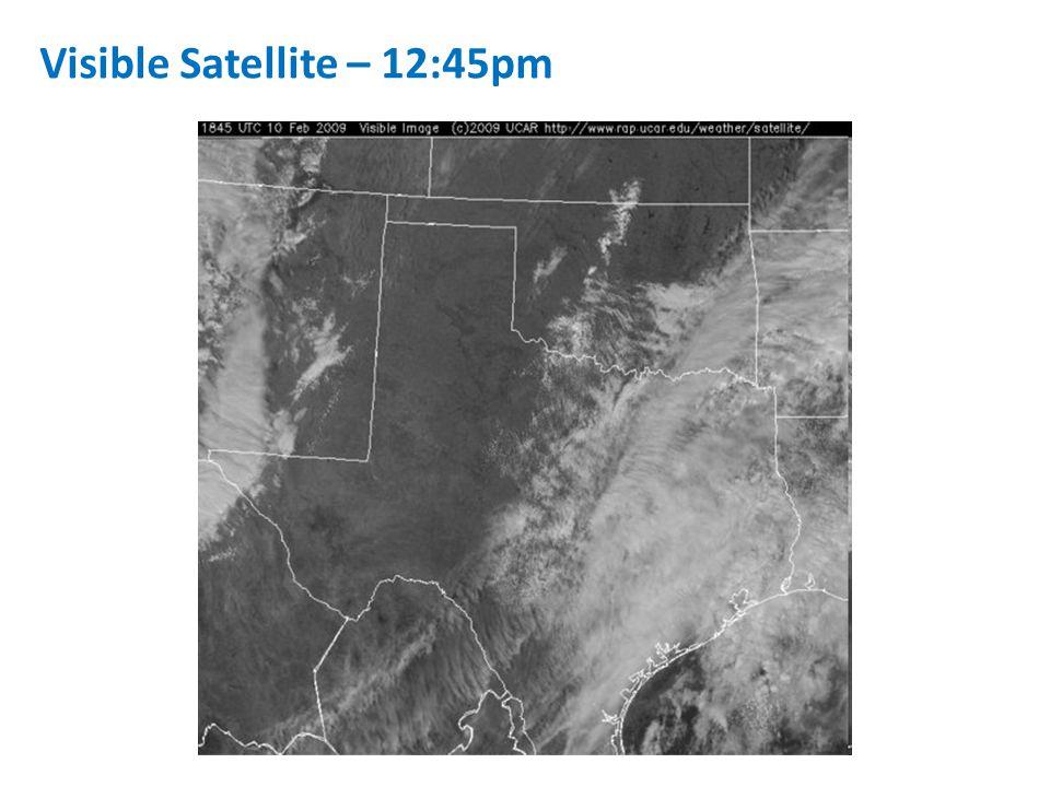 Visible Satellite – 12:45pm