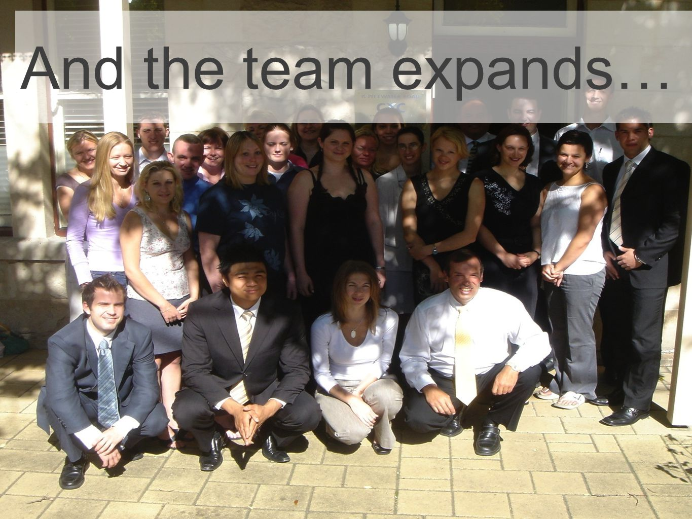 And the team expands…