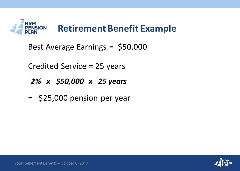 Annual Pension Statement Your Retirement Benefits – October 8, 2013