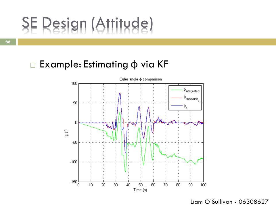 36  Example: Estimating φ via KF Liam O'Sullivan - 06308627