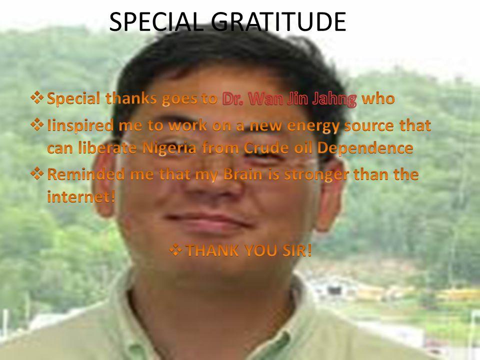 SPECIAL GRATITUDE