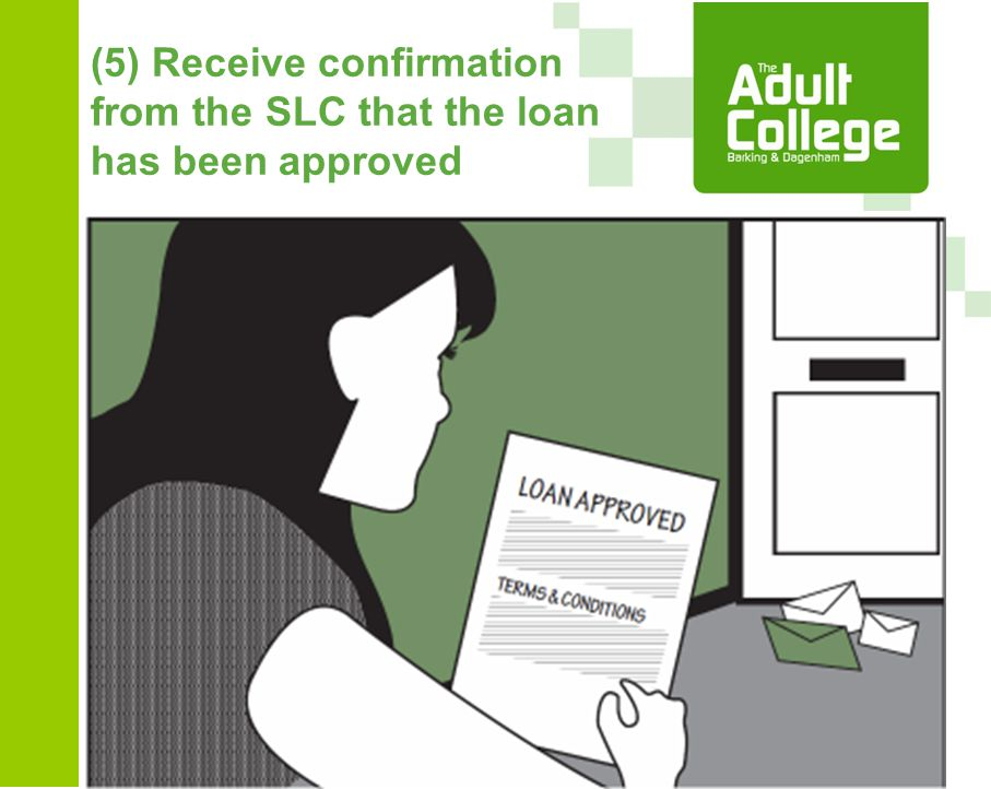(5) Receive confirmation from the SLC that the loan has been approved