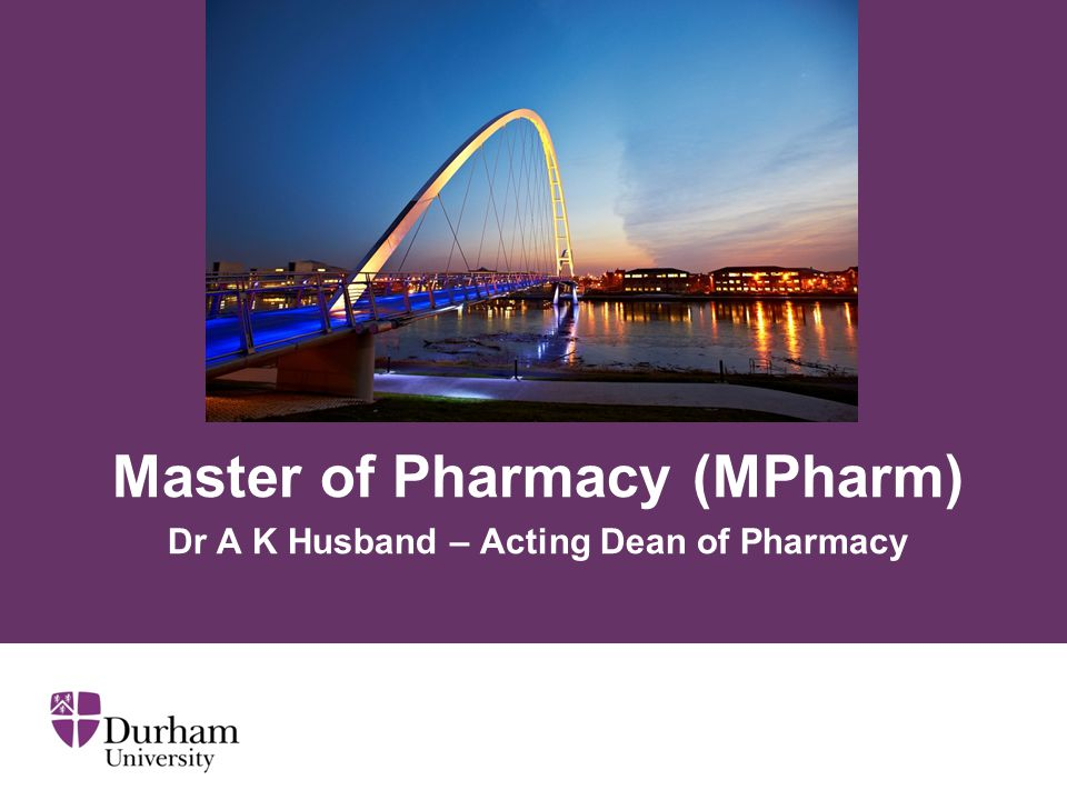 ∂ Division of Pharmacy Formed as part of the renaming of the School of Medicine and Health to School of Medicine, Pharmacy and Health.