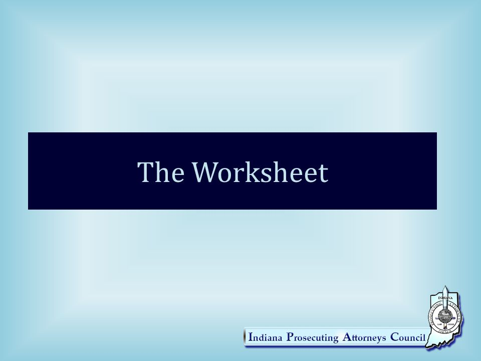 The Worksheet