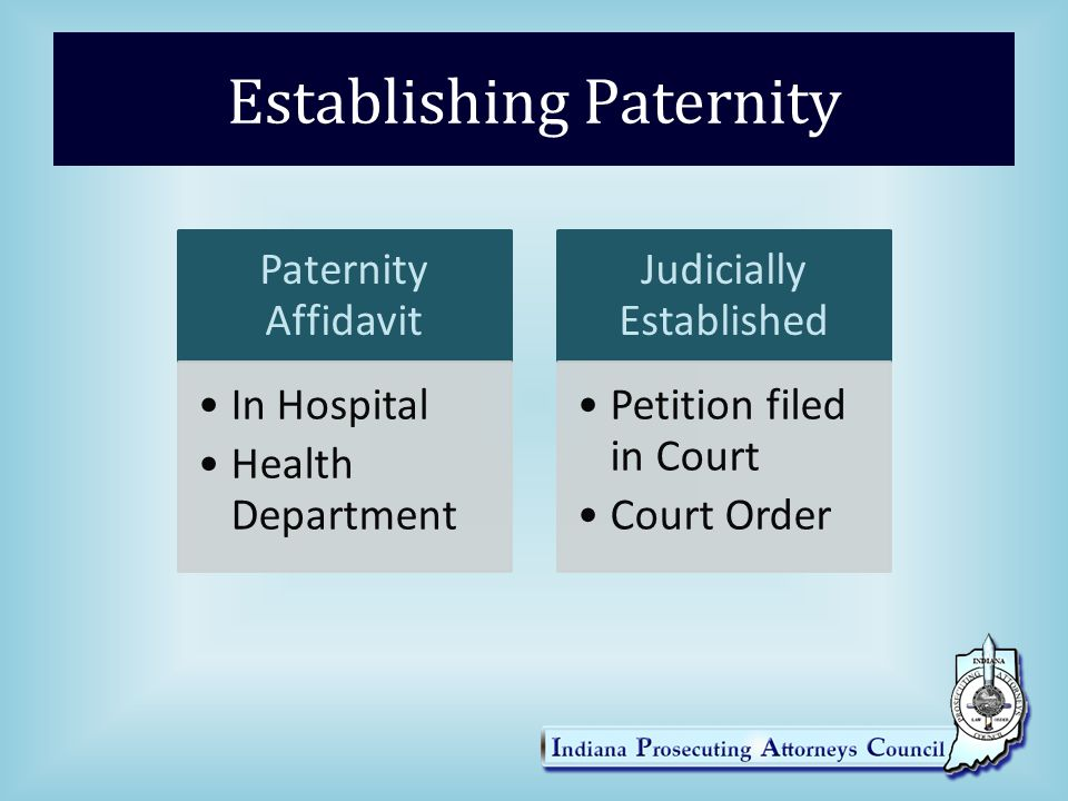 ISSUES IN PATERNITY Necessary Parties Parents of Minors3 rd Party CustodianHusbands